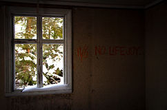 Abandoned 11/6 No lifejoy. In Sweden Royalty Free Stock Photography