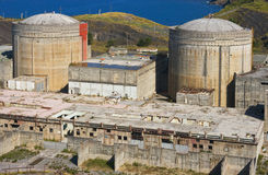 Abandoned nuclear power plant Stock Photography