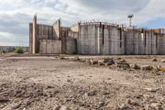Abandoned nuclear power plant construction site in Żarnowiec, P Stock Image