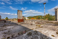 Abandoned nuclear power plant construction site Stock Photography