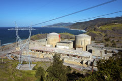 Abandoned Nuclear power station. Landscape royalty free stock image