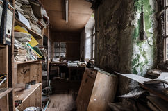 Abandoned office in factory Stock Photos