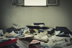 Abandoned office Stock Photo