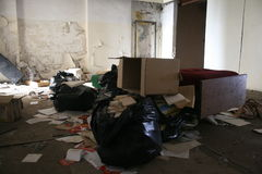 Abandoned office. Abandoned and very devastated office royalty free stock photos