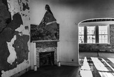 Abandoned officer's Mural. A southwest mural in the abandoned officers quarters at the historic Fort Stanton in southeast New Mexico Royalty Free Stock Photos