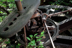 Abandoned oil Derrick detail stock images