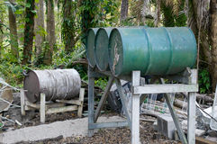 Abandoned oil drums Royalty Free Stock Photo