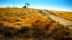 Abandoned Oil Pump Stock Image