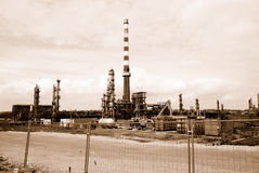 Abandoned Oil Refinery Ruin Stock Image