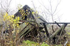 Abandoned old barn Stock Photo