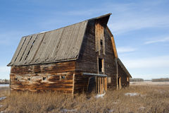 Abandoned old barn in winter Royalty Free Stock Photography