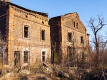Abandoned old brick house Royalty Free Stock Photo