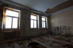 Abandoned old building - reconstruction in haunted house Stock Image