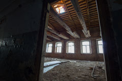Abandoned old building - reconstruction in historical buildings Royalty Free Stock Image