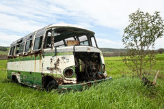 Abandoned old bus Royalty Free Stock Photography