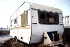 Abandoned old caravan Royalty Free Stock Image