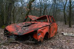 Abandoned old cars Royalty Free Stock Images