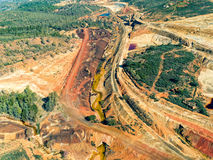 Abandoned Old Copper Extraction Sao Domingos Mine Royalty Free Stock Images