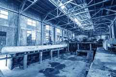 Abandoned old factory Stock Images