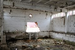 Abandoned factory building Royalty Free Stock Image
