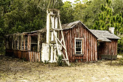 Abandoned old home crumbling on Cumberland Island Royalty Free Stock Images