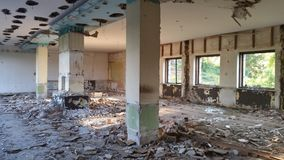 Abandoned old hotel Tara Stock Photos