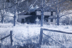 Abandoned old house. Infrared image of abandoned old house Stock Images