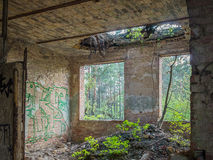 Abandoned old house building interior Stock Photography