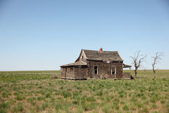 Abandoned old house. In the countryside Royalty Free Stock Image
