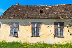 Abandoned old house details Royalty Free Stock Image