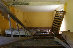 Abandoned old house interior. Old abandoned house interior in the forest Royalty Free Stock Photos