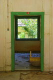 Abandoned old house interior 1. Old abandoned house interior in the forest Royalty Free Stock Photo