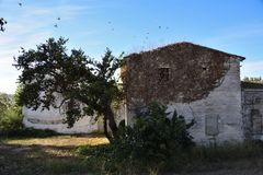 Abandoned old house. In the Spain HD stock photo