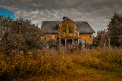 Abandoned. Old and abandoned house where nobody lives Stock Photos