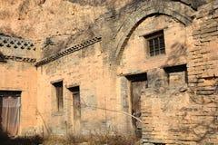 Abandoned old houses,Shanxi, China royalty free stock photography