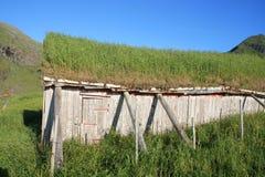 Abandoned  old Lofoten'  shack Royalty Free Stock Photography