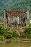Abandoned old metal bridge Royalty Free Stock Photography