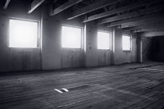 Abandoned old mill interior Stock Images