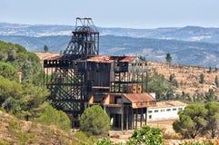Abandoned old mine in southwest Spain. Algaida well Winch, Department of Internal mina (Malacate pozo Algaida - La Zarza). Calanas. Huelva, Spain stock photo