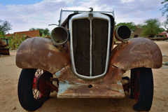 Abandoned old Morris Eight car Royalty Free Stock Photos