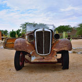 Abandoned old Morris Eight car Royalty Free Stock Photography