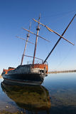 Abandoned old pirate ship Stock Image
