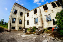 Abandoned Old Ruined Industrial Plant Royalty Free Stock Photos
