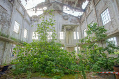 Abandoned Old Ruined Industrial Plant Royalty Free Stock Images