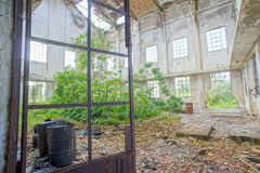 Abandoned Old Ruined Industrial Plant. In Veneto Italy royalty free stock photography