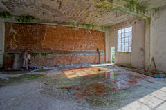 Abandoned Old Ruined Industrial Plant Stock Image