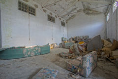 Abandoned Old Ruined Industrial Plant Royalty Free Stock Photography