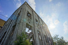 Abandoned Old Ruined Industrial Plant Stock Photos