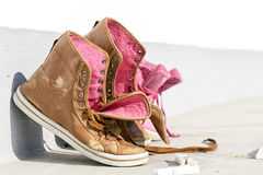 Abandoned old shoes Stock Photos