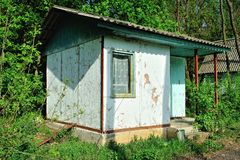 Abandoned old small house Royalty Free Stock Photography